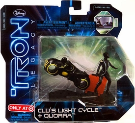 Tron Legacy Series 1 Exclusive Figure 2-Pack Clu's Light Cycle & Quorra