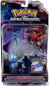 Pokemon Diamond & Pearl Series 10 Basic Figure 3-Pack Shinx, Zubat & Rhyperior