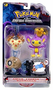 Pokemon Diamond & Pearl Series 9 Basic Figure 3-Pack Aipom, Feebas & Wormadam [Sandy Cloak]