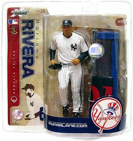 McFarlane Toys MLB Sports Picks Series 18 Action Figure Mariano Rivera (New York Yankees) Contains Piece of Bullpen! All Time Saves Leader!