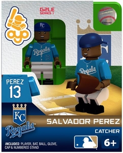 OYO Baseball MLB Generation 2 Building Brick Minifigure Salvador Perez [Kansas City Royals]
