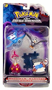 Pokemon Diamond & Pearl Series 9 Basic Figure 3-Pack Medicham, Mantyke & Starly