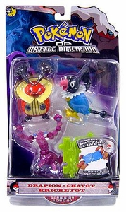 Pokemon Diamond & Pearl Series 9 Basic Figure 3-Pack Drapion, Chatot & Kricketot