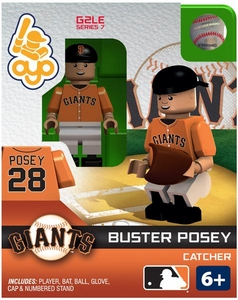 OYO Baseball MLB Generation 2 Building Brick Minifigure Buster Posey [San Francisco Giants]