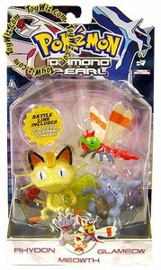 Pokemon Diamond & Pearl Series 7 Basic Figure 3-Pack Rhydon, Yanma & Meowth