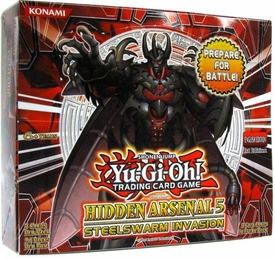 YuGiOh Hidden Arsenal 5: Steelswarm Invasion Booster BOX [24 Packs] BLOWOUT SALE!