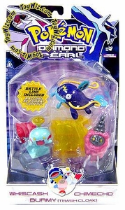 Pokemon Diamond & Pearl Series 7 Basic Figure 3-Pack Whiscash, Chimecho & Burmy [Trash Cloak]
