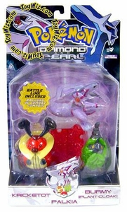 Pokemon Diamond & Pearl Series 7 Basic Figure 3-Pack Kricketot, Burmy [Plant Cloak] & Palkia