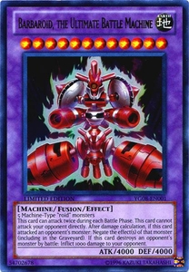 YuGiOh Shonen Jump Promo Single Card Ultra Rare YG08-EN001 Barbaroid, The Ultimate Battle Machine