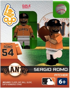 OYO Baseball MLB Generation 2 Building Brick Minifigure Sergio Romo [San Francisco Giants]