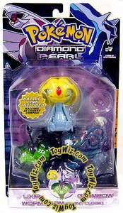 Pokemon Diamond & Pearl Series 5 Basic Figure 3-Pack Glameow, Uxie & Wormadam [Grass]