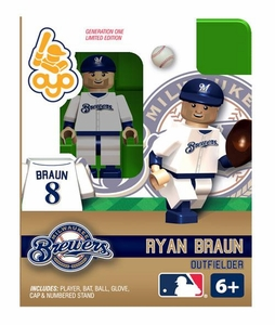 OYO Baseball MLB Building Brick Minifigure Ryan Braun [Milwaukee Brewers]