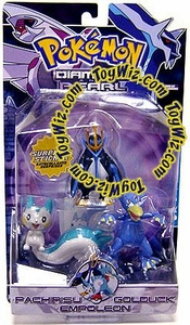 Pokemon Diamond & Pearl Series 4 Basic Figure 3-Pack Pachirisu, Golduck & Empoleon
