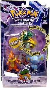 Pokemon Diamond & Pearl Series 3 Basic Figure 3-Pack Buizel, Shinx & Grotle