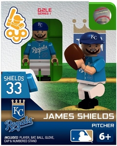 OYO Baseball MLB Generation 2 Building Brick Minifigure James Shields [Kansas City Royals]
