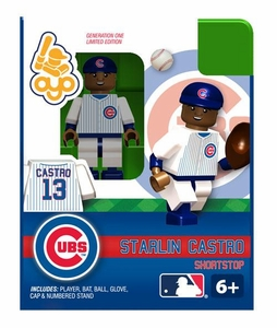 OYO Baseball MLB Building Brick Minifigure Starlin Castro [Chicago Cubs]