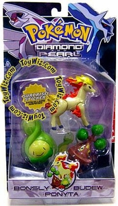 Pokemon Diamond & Pearl Series 2 Basic Figure 3-Pack Bonsly, Budew & Ponyta