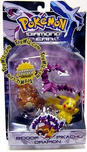 Pokemon Diamond & Pearl Series 2 Basic Figure 3-Pack Pikachu, Bidoof & Drapion