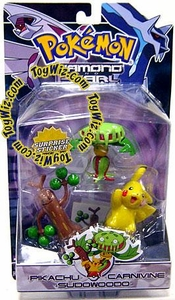 Pokemon Diamond & Pearl Series 2 Basic Figure 3-Pack Carnivine, Pikachu & Sudowoodo