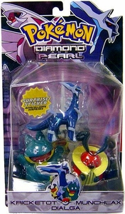 Pokemon Diamond & Pearl Series 2 Basic Figure 3-Pack Dialga, Munchlax & Kricketot