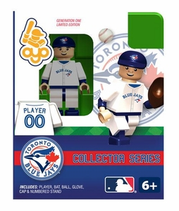 OYO Baseball MLB Building Brick Minifigure Toronto Blue Jays Collectors Series Figure