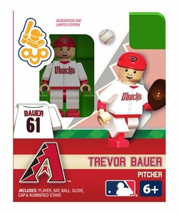 OYO Baseball MLB Building Brick Minifigure Trevor Bauer [Arizona Diamondbacks]