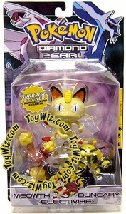 Pokemon Diamond & Pearl Series 1 Basic Figure 3-Pack Meowth, Buneary & Electivire