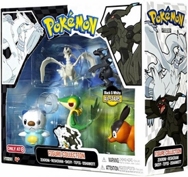 Pokemon Black & White Exclusive Basic Figure Collection 5-Pack [Zekrom, Reshiram, Snivy, Tepig & Oshawott]