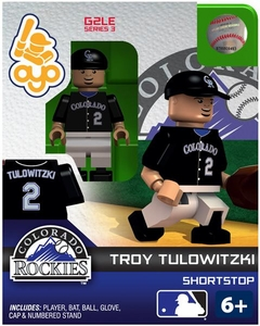 OYO Baseball MLB Generation 2 Building Brick Minifigure Troy Tulowitzki [Colorado Rockies]