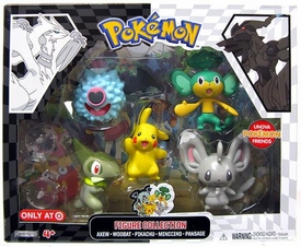 Pokemon Black & White Basic Figure Collection 5-Pack [Minccino, Pikachu, Pansage, Axew & Woobat]