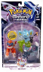 Pokemon Diamond & Pearl Series 6 Basic Figure 3-Pack Monferno, Glameow & Shinx