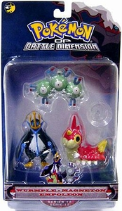 Pokemon Diamond & Pearl Series 12 Basic Figure 3-Pack Wurmple, Magneton & Empoleon
