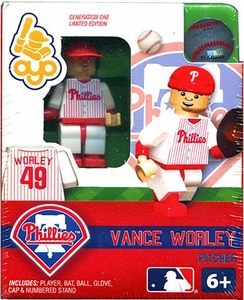 OYO Baseball MLB Building Brick Minifigure Vance Worley [Philadelphia Phillies]