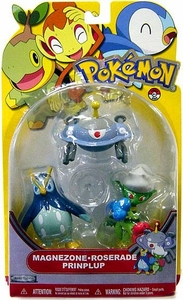 Pokemon Series 14 Basic Figure 3-Pack Magnezone, Roserade & Prinplup