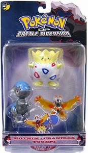 Pokemon Diamond & Pearl Series 12 Basic Figure 3-Pack Mothim, Cranidos & Togepi