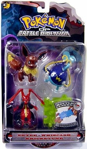 Pokemon Diamond & Pearl Series 10 Basic Figure 3-Pack Eevee, Whiscash & Kricketune