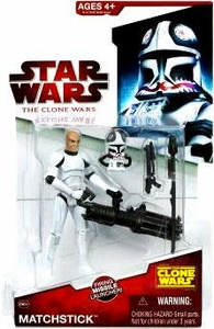 Star Wars 2009 Clone Wars Animated Action Figure CW No. 34 Matchstick