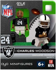 OYO Football NFL Building Brick Minifigure Charles Woodson [Oakland Raiders]