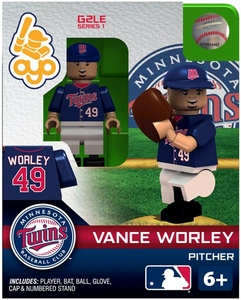 OYO Baseball MLB Generation 2 Building Brick Minifigure Vance Worley [Minnesota Twins]