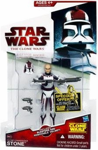 Star Wars 2009 Clone Wars Animated Action Figure CW No. 44 Commander Stone
