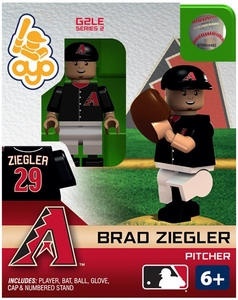 OYO Baseball MLB Generation 2 Building Brick Minifigure Brad Ziegler [Arizona Diamondbacks]