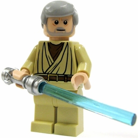LEGO Star Wars LOOSE Mini Figure Obi-Wan Kenobi with Silver Lightsaber [Landspeeder] Light Flesh