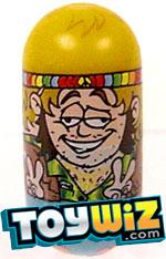 Mighty Beanz Series 3 Rare Hippies Single #161 Peace-Man Bean