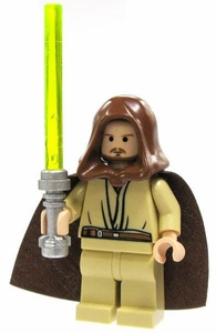 LEGO Star Wars LOOSE Mini Figure Qui-Gon Jinn with Lightsaber Light Flesh