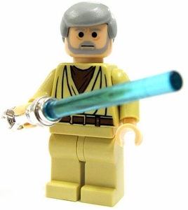 LEGO Star Wars LOOSE Mini Figure Obi-Wan Kenobi with Chrome Lightsaber [A New Hope] Light Flesh