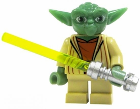 LEGO Star Wars Clone Wars LOOSE Mini Figure Yoda with Silver Lightsaber