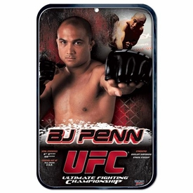 Wincraft UFC & MMA Mixed Martial Arts Sign B.J. Penn
