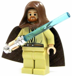 LEGO Star Wars LOOSE Mini Figure Obi-Wan Kenobi with Chrome Lightsaber & Cloak [Tan Pants]