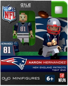 OYO Football NFL Building Brick Minifigure Aaron Hernandez [New England Patriots]