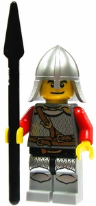 LEGO Kingdoms LOOSE Red Kingdom Mini Figure Lion Spearman [Spear & Conical Helm]